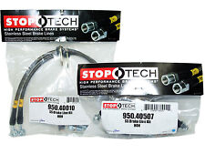 Stoptech Stainless Steel Braided Brake Lines (Front & Rear Set / 40010+40507)