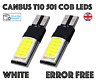 2x CANBUS ERROR FREE T10 501 COB LED BULBS XENON WHITE INTERIOR LIGHT SIDELIGHTS