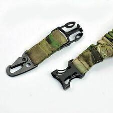 Single 1 point sling Tactical Sling system bungee Adjustable Multicam