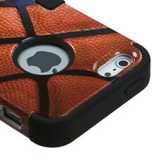 for iPhone SE 5S NBA Basketball Hybrid Armor Dual Layer Hard & Soft Rubber Case