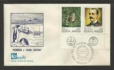 ARGENTINA 1986 ANTARCTIC PIONEERS & FAUNA PENGUIN FDC (No 3)