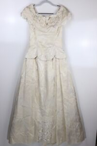 Jessica McClintock Women's Size 9/10 Ivory Embroidered Wedding  Dress, See Desc.
