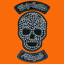 HARLEY DAVIDSON Studded Star Skull 3 PC Set  HARLEY PATCH