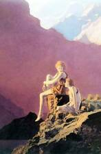 """Ladies Mountains , """"Contentment"""" by Maxfield Parrish"""
