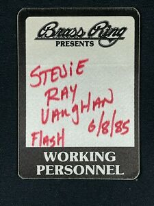 1985 Stevie Ray Vaughn Backstage Pass