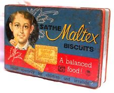 Indian Old Vintage Unique Maltex Biscuits A Balanced Food Tin Box Br 444