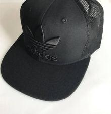 Black Adidas Originals Unisex Trefoil Trucker Cap Snapback  Mesh Hat One Size