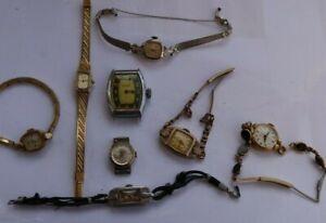 LOT Vintage Watches Wristwatches Bulova Elgin Ingraham Buler Kelton Avalon Wind