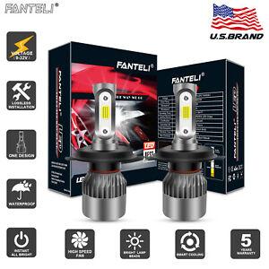 FANTELI CREE H4 HB2 9003 2100W 315000LM LED Headlight Hi/Lo Power Bulbs 6000K