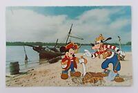 Postcard Walt Disney World Mickey Goofy on Treasure Island # 0111-0375 Unposted