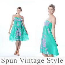 Sundress Strapless dress Embroidered Swimwear-Cover-Ups Bridesmaid Beach Party