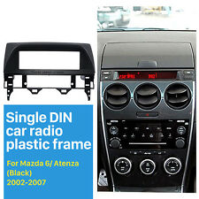 1DIN Car Radio Fascia DVD Panel Trim Surround CD for 2002-2007 Mazda 6 Atenza