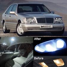 New Xenon White LED SMD Interior Light Kit For Benz S-Class W140 Sedan (24pcs)