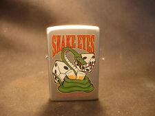 2007 Zippo Cigarette Lighter Snake Eyes Bar & Grill Design Bradford PA USA