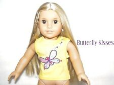 Yellow Butterfly Tank Top 18 in Doll Clothes Fits  American Girl