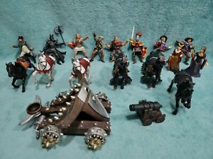 Papo Medieval Horses Catapult Fantasy Historical Figure Lot *read