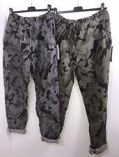 Cropped Pants Magic Pants Camouflage Capri Grey Black Stretch Plus Fit 18-24 NEW