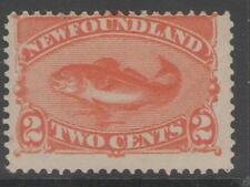 NEWFOUNDLAND SG51 1888 2c ORANGE-VERMILION MTD MINT