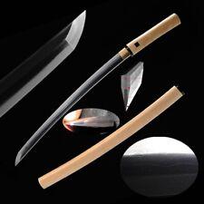 Samurai Sword Wakizashi Folded Steel T10 Steel Honsanmai Blade Clay tempered#751