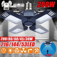 30W-200W Pro E27 LED Garage Light Deformable Ceiling Light Fixture Workshop