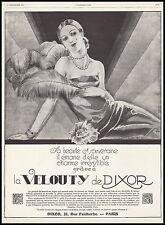 Publicité VELOUTY DE DIXOR Cosmetique Cosmetics  photo vintage print ad 1927 -5h