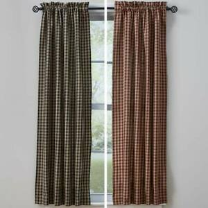 Town and Country Curtain Panels Wine or Black
