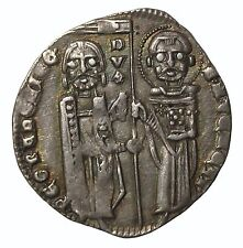 Italy Venice Pietro Gradenigo 1289-1311 AD AR Silver Grosso Medieval Coin