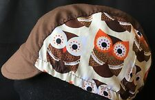 """Cycling Cap El TECOLOTE """"owl"""" one Size Hand Made  100% cotton"""