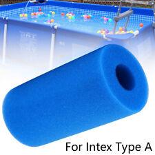 Blue Washable Swimming Pool Water Filter Foam Sponge Cartridge For Intex Type(A)