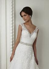 Lace V Neck Sleeve Wedding Dresses