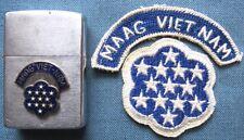 "c.1950-57 MAAG Viet-Nam ""Zippo"" lighter & RVN-made ""MAAG Viet Nam"" tab w/patch"