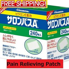 Salonpas Pain Relieving Patch 4.2 x 6.5cm x 240 Hisamitsu Fresh stock from Japan