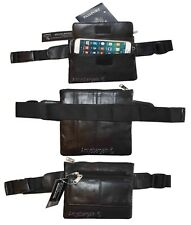 Flat Waist Pouch Leather Mini waist bag Small Waist pouch Fanny Pack up to 44""