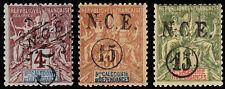 New Caledonia Scott 60-61, 63 (1900-01) Mint H F-VF, CV $36.25