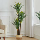 Large Artificial Plant with Pot Realistic Fake Sisal Tree Indoor Outdoor Decor