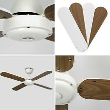 MiniSun White / Wood 42 Ceiling Fan Infrared IR Remote Control Lounge Fans