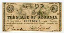 1863 Cr.14A 50c The State of GEORGIA Note - CIVIL WAR Era