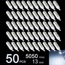 50pcs Super White T10 RV Camper 13-SMD 5050 Car LED Light Bulbs 12V 194 921 912