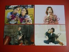 Girls Generation Yoona SNSD Taeyeon Signed 4 Photos 4x6 Autographed USA SELLER w