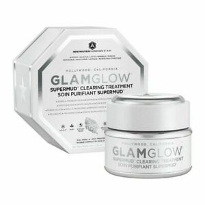 GlamGlow SuperMud Clearing Treatment Facial Mask 1.7oz/ 50g Brand NEW in Box