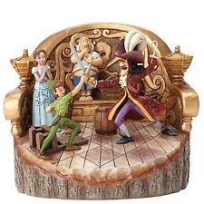 Disney  Daring Duel Carved by Heart Peter Pan Palm Tree Figurine 4048653