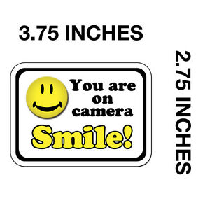 your video surveillance stickers decals (SMILE you're YOU ARE ON CAMERA) cctv