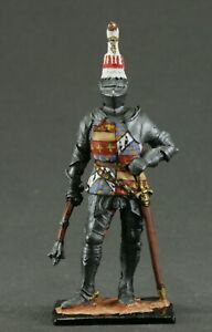 Painted tin toy soldiers figures 54 mm. 1/32. Richard Neville, Earl of Warwick