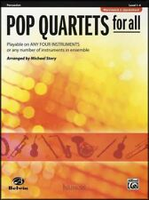 Pop Quartets For All Percussion Tuned & Drums Sheet Music Book Score