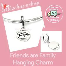 Authentic PANDORA Charm Sterling Silver Friends Are Family Dangle 798124EN16