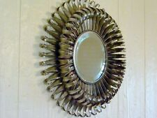 "19"" SILVER STARBURST Sunburst DEEP WALL MIRROR Global Views METAL ART SCULPTURE"
