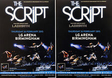 THE SCRIPT BIRMINGHAM CONCERT FLYERS X 4 - NO SOUND WITHOUT SILENCE - LABRINTH