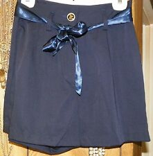 "Back Stage Girls School Uniform Navy Blue Skirt Skort Waist 26"" Size Small"