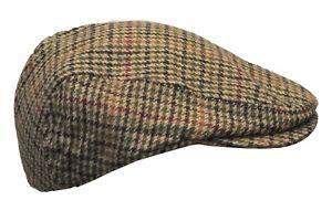 Walker & Hawkes - Uni-Sex Country Wool Flat Cap Herringbone Hat S-3XL