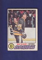 Mike Milbury RC 1977-78 O-PEE-CHEE OPC Hockey #134 (EX) Boston Bruins